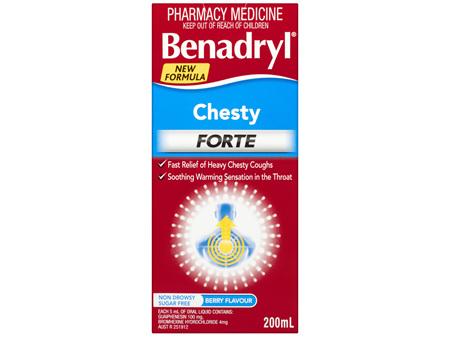 Benadryl Chesty Forte Cough Liquid Berry Flavour 200mL