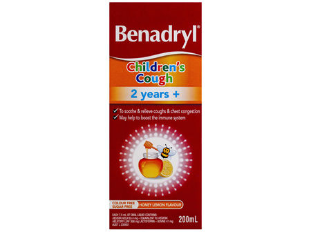Benadryl Children's Cough 2 years+ Honey Lemon Flavour 200mL