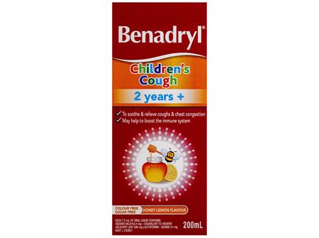 Benadryl Children's Cough 2 years+ Honey Lemon Flavour 200mL