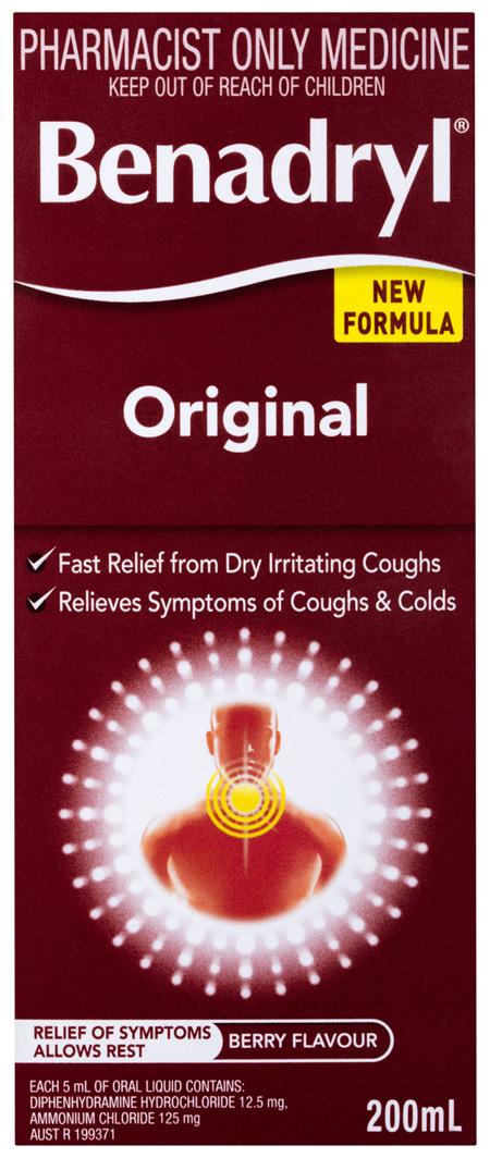 Benadryl Original Berry Flavour 200mL