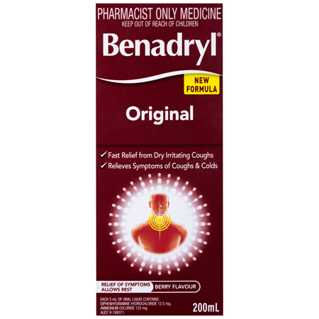 Benadryl Original Berry Flavour 200mL