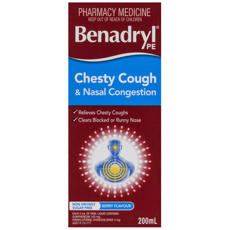 Benadryl PE Chesty Cough & Nasal Congestion 200mL