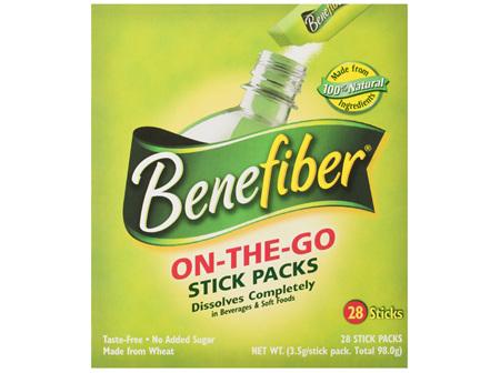 Benefiber On-The-Go Sticks, Natural Fibre Supplement 28 Pack