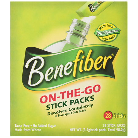 Benefiber On-The-Go Sticks, Natural Fibre Supplement 28 Pack