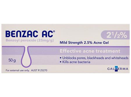 Benzac AC 2.5% Gel 50g