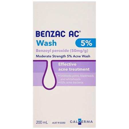 Benzac AC 5% Wash 200mL