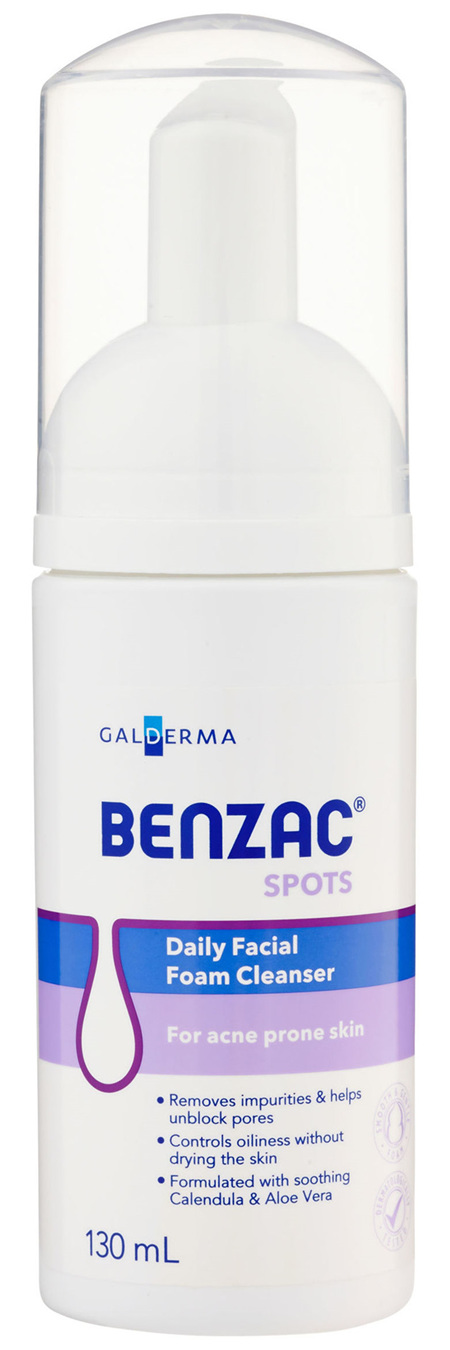 Benzac Daily Facial Foam Cleanser 130mL