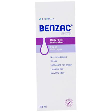 Benzac Daily Facial Moisturiser 118mL, For All Skin Types