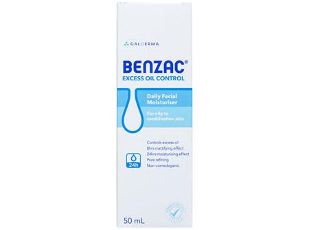 Benzac Excess Oil Control Daily Facial Moisturiser 50mL