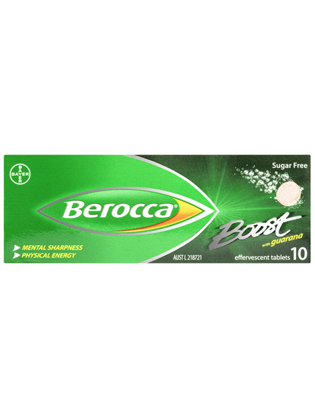 Berocca Boost Energy Vitamin With Guarana Effervescent Tablets 10 pack