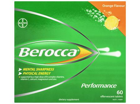 Berocca Energy Vitamin Orange Effervescent Tablets 60 pack Exclusive Size