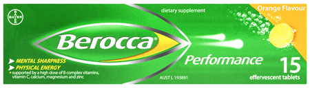 Berocca Energy Vitamin Orange Effervescent Tablets 15 pack