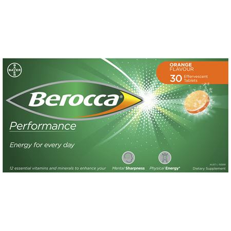 Berocca Energy Vitamin Orange Effervescent Tablets 30 pack