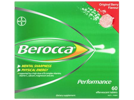 Berocca Energy Vitamin Original Berry Effervescent Tablets 60 pack Exclusive Size