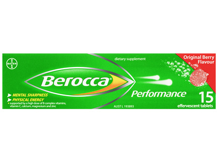 Berocca Energy Vitamin Original Berry Effervescent Tablets 15 pack