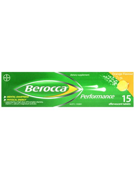 Berocca Vitamin B & C Orange Flavour Energy Effervescent Tablets 15 Pack