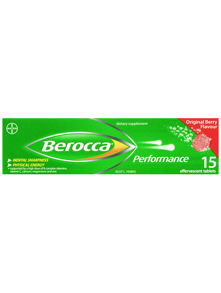 Berocca Vitamin B & C Original Berry Flavour Energy Effervescent Tablets 15 pack