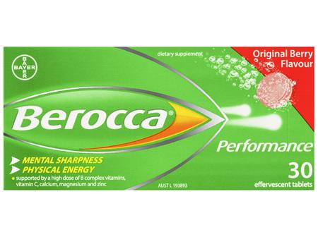 Berocca Vitamin B & C Original Berry Flavour Energy Effervescent Tablets 30 pack