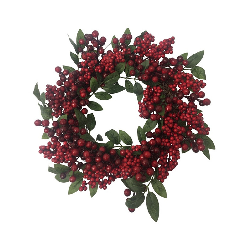 Berry with Leaf Wreath 50cm