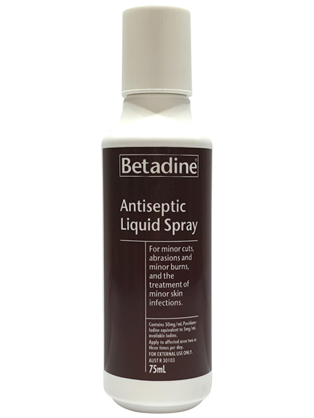 Betadine Antiseptic Liquid Spray 75mL
