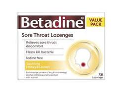 Betadine Lozenges Menthol & Eucal 36s
