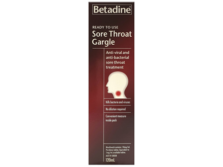 BETADINE Ready To Use Gargle 120ml