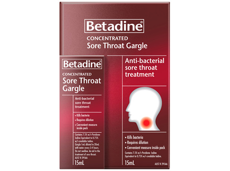 Betadine Sore Throat Gargle 15mL