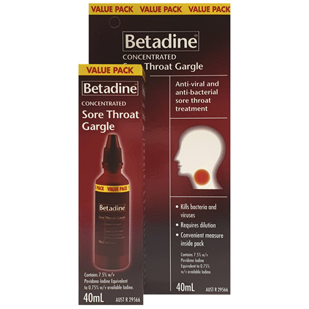 Betadine Sore Throat Gargle 40mL