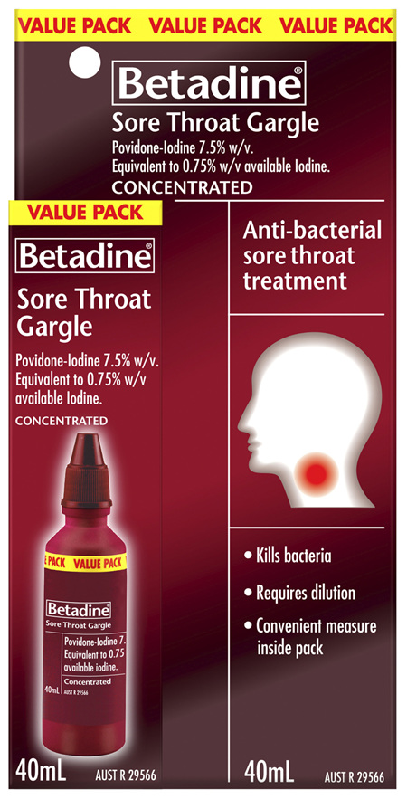 Betadine Sore Throat Gargle Concentrated 40mL