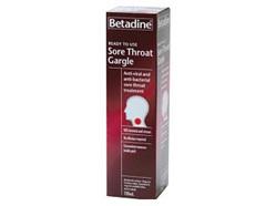 Betadine Sore Throat Gargle Ready to Use 120ml