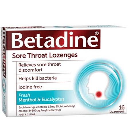 BETADINE Sore Throat Loz. M&E 16