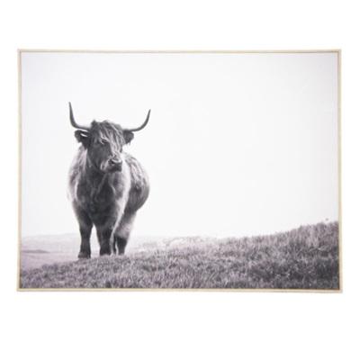 Betty Bull Canvas Print - Natural Frame 90x120cm