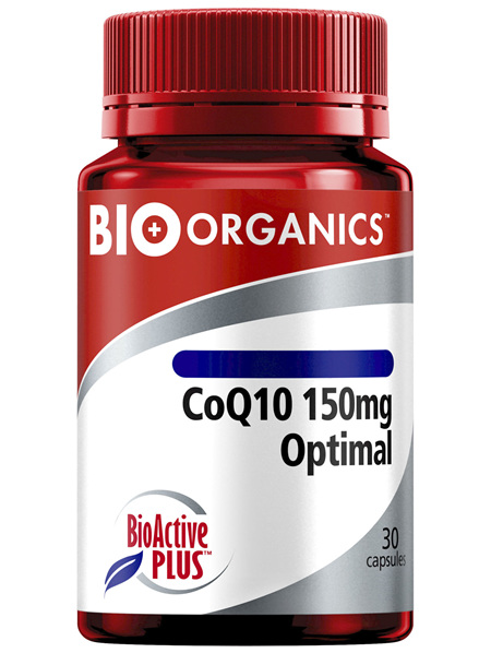 Bio-Organics CoQ10 150mg Optimal with Bio-Active Plus