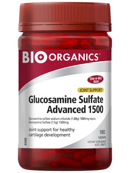 Bio-Organics Glucosamine Sulfate Advanced 1500