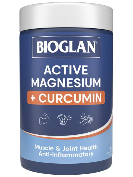 Bioglan Active Magnesium + Curcumin 120 Tablets
