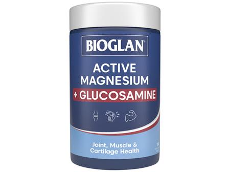Bioglan Active Magnesium + Glucosamine 180 Tablets