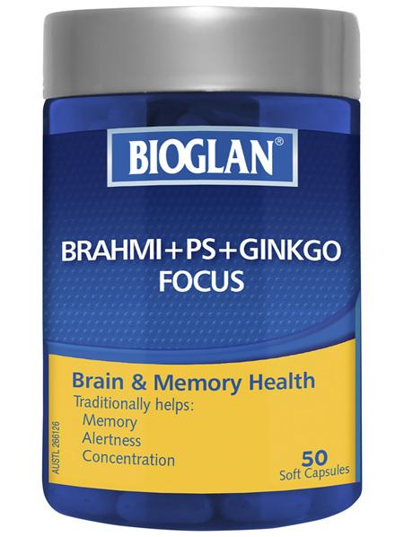 BIOGLAN - Brahmi + PS+ Ginkgo 50 Capsules