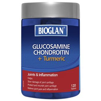 BIOGLAN -Glucosamine, Chondroitin + Turmeric 120 Tablets