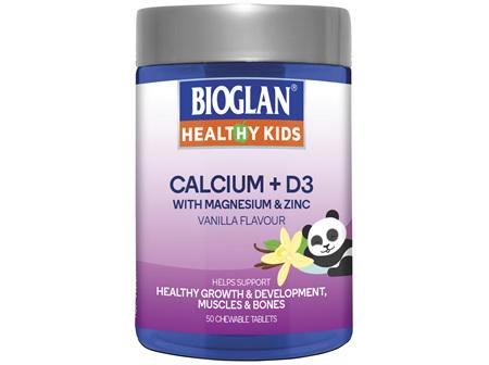BIOGLAN Healthy Kids Calcium + D3 50 Tablets