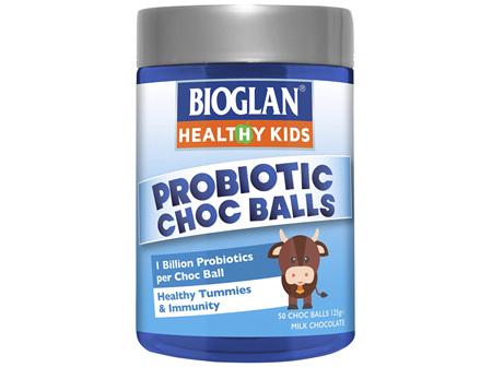 Bioglan Healthy Kids Probiotic Choc Balls 50s