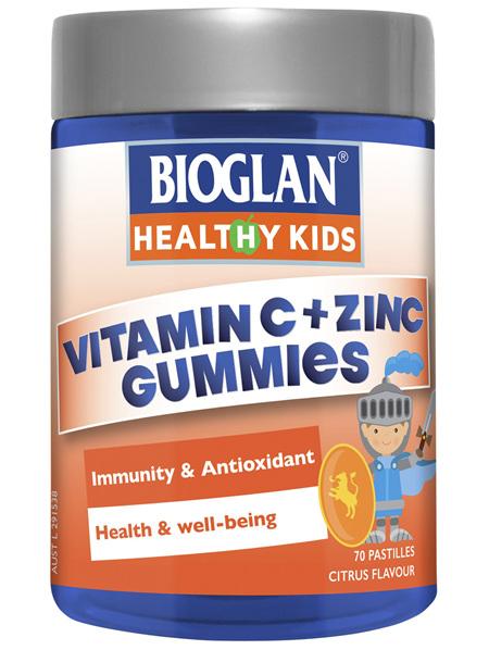 BIOGLAN Healthy Kids Vitamin C + Zinc Gummies 70 Pack