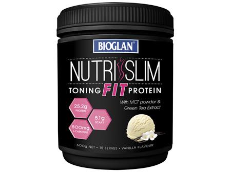 Bioglan NutriSlim FIT Toning Protein - Vanilla 600g