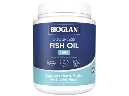 BIOGLAN - Odourless Fish Oil 1500mg 400s