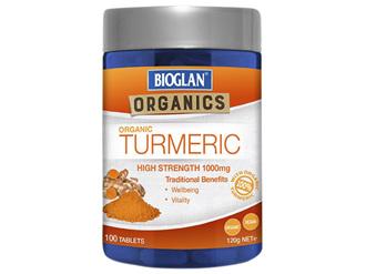 Bioglan Organics Turmeric 1000mg 100 Tablets