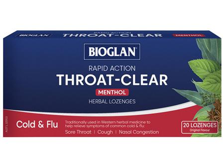 BIOGLAN - Rapid-Action Throat Clear Menthol 20pack