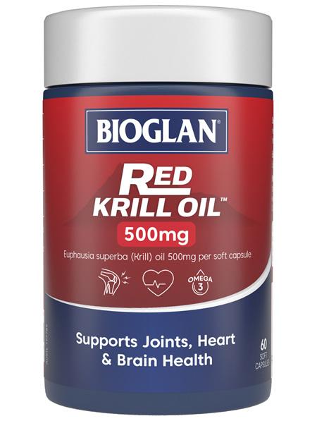 BIOGLAN Red Krill Oil 500mg 60s