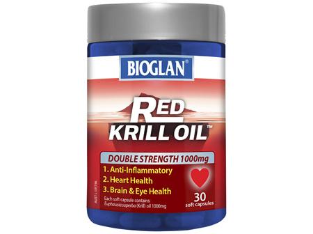 BIOGLAN - Red Krill Oil Double Strength 1000mg 30s