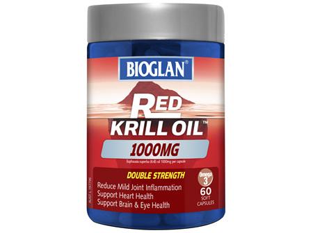 BIOGLAN - Red Krill Oil Double Strength 1000mg 60s