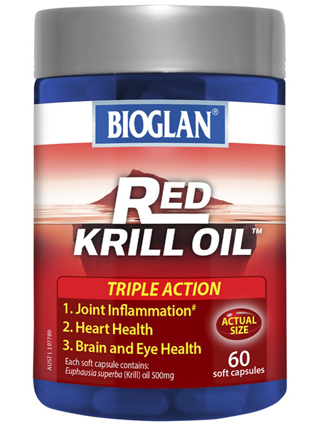 Bioglan Red Krill Oil Triple Action 500mg 60s