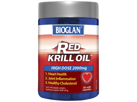 BIOGLAN - Red Krill Oil Ultra Strength 2000mg 30s